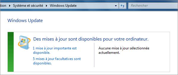 Le service de mise à jour Windows Update