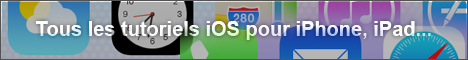 Tutoriels iOs, iPhone et iPad