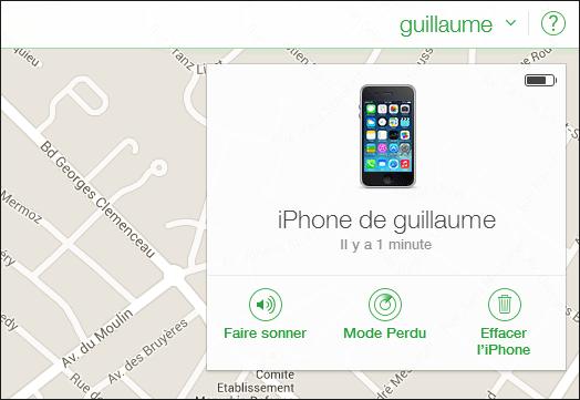 Géstion à distance d'un téléphone perdu ou volé