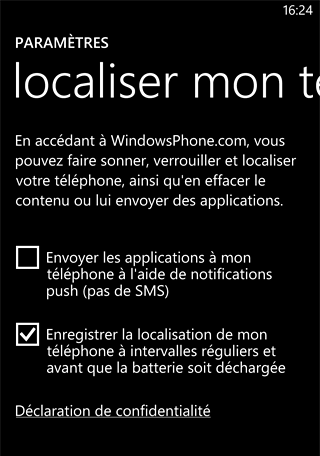 Localisation sous Windows Phone
