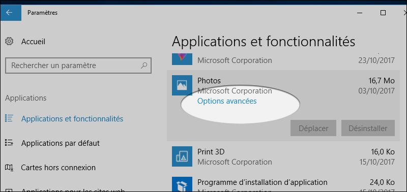 Dépannage d'applications