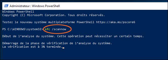 Réparer les fichiers système