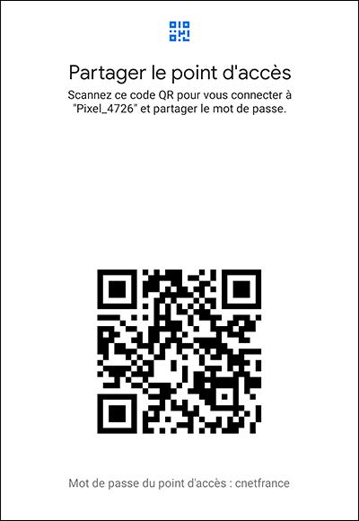 QR Code de partage de connexion