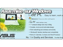 ASUSTeK mise sur Microsoft Windows pour vendre son EeePC.