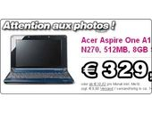 Acer Aspire One : attention aux images !