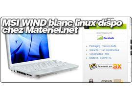 Le MSI Wind disponible chez Materiel.net