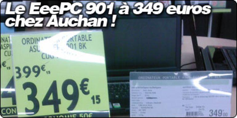 Le EeePC 901 à 349 € chez Auchan !