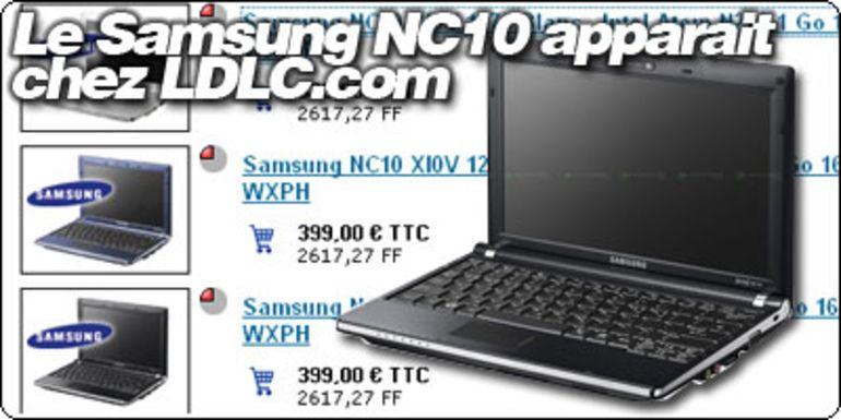 Le Samsung NC10 apparaît sur le site LDLC.COM.