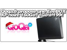 Qoqa.fr propose une EeeBOX B202 noire XP 160 Go / 1 Go à 199 €.