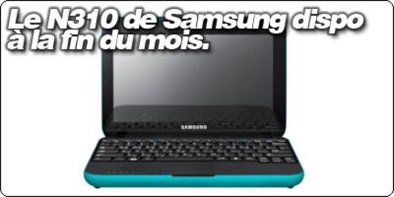 Le Samsung N310 disponible à la fin du mois.