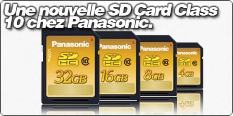 Des cartes SDHC Panasonic de classe 10.