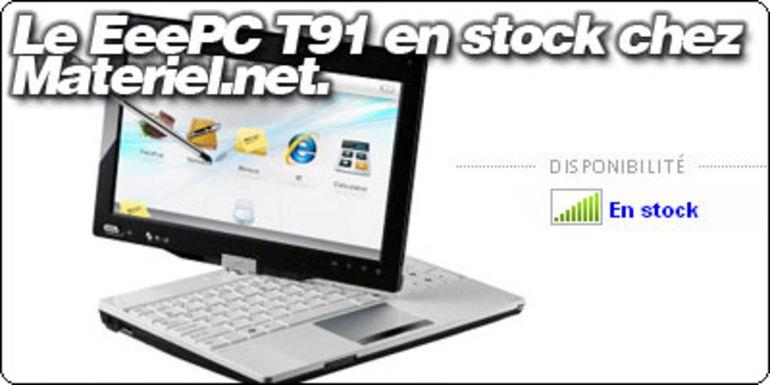 Le EeePC T91 en stock à 448.95€ chez Materiel.net