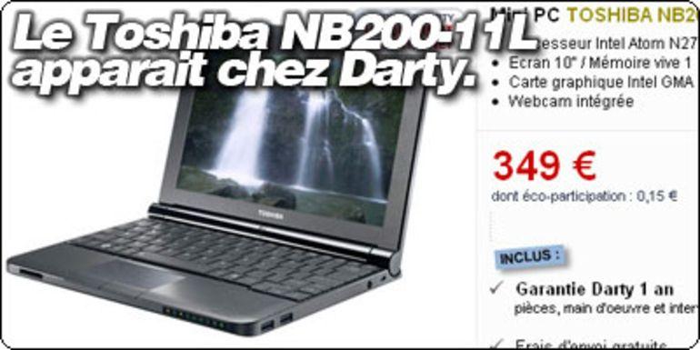 Le Toshiba NB200-11L en vente chez Darty à 349€.
