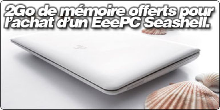 Offre Fnac / Blogeee : EeePC 1005HA-H Blanc ou Noir à 329€ et 2Go de ram offerte !