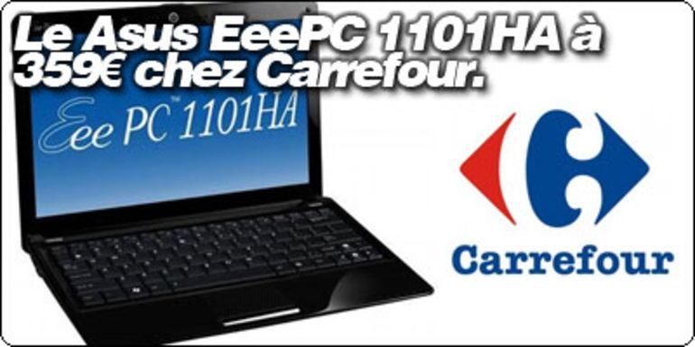 "Le Asus EeePC Seashell 1101HA 11.6"" à 359€ chez Carrefour !"