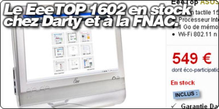 Le EeeTOP 1602 Blanc en stock à 549 €.