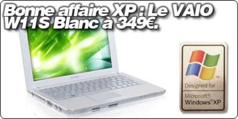 Bonne affaire XP : Le Sony VAIO W11S Blanc à 349€.