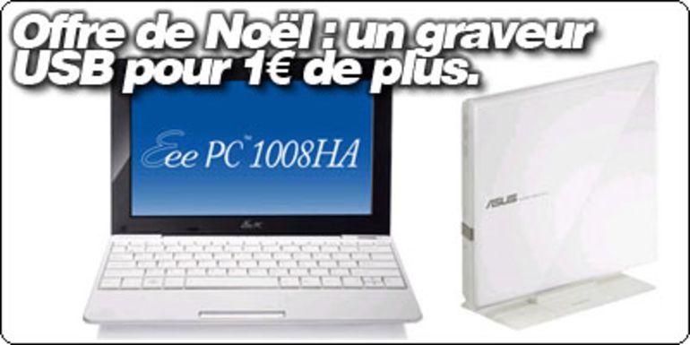 EeePC 1008HA et 1101HA, un graveur ASUS USB pour 1€ de plus avec la Fnac et Blogeee.