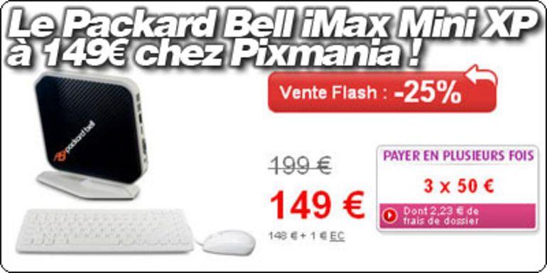 Le Packard Bell iMax Atom 230 + ION à 149€ chez Pixmania.