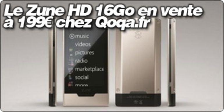Le Microsoft Zune HD 16Go sous Tegra en vente en France à 199€ chez Qoqa.fr.