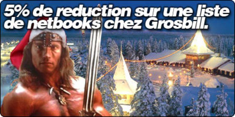 5% de reduction sur une liste de netbooks chez Grosbill.