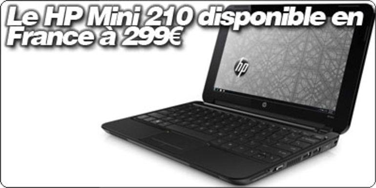 Le HP Mini 210 disponible en France à 299€