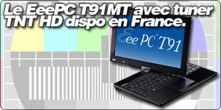Le EeePC T91MT avec tuner TNT HD apparait chez Surcouf.com