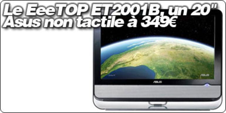 """Le EeeTOP ET2001B, un 20"""" Asus non tactile à 349€ à la FNAC."""