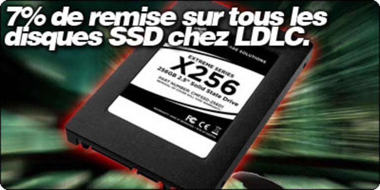 7% de remise sur tous les disques durs SSD chez LDLC.