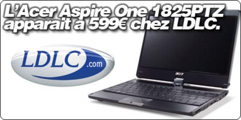 """L'Aspire 1825PTZ, le 11.6"""" tablet d'Acer, apparait à 599€ chez LDLC."""