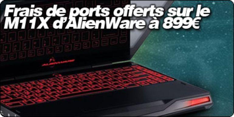 Frais de ports offert sur l'AlienWare M11X à 899€ chez Grosbill avec Blogeee.