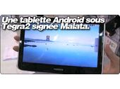 Une tablette Android 10