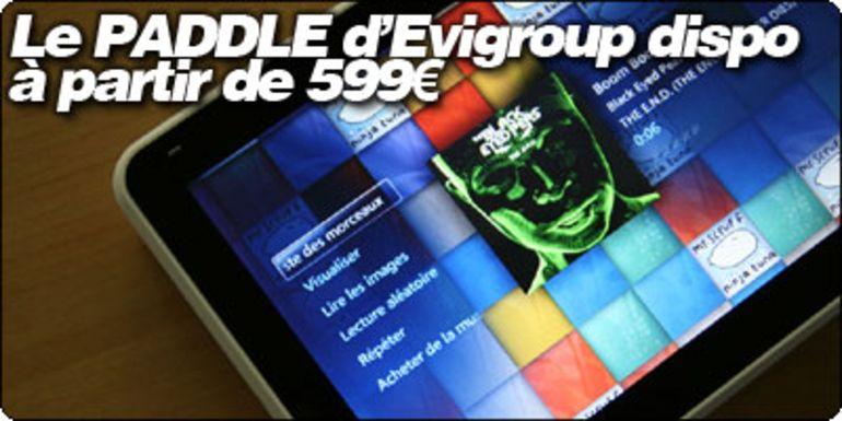 Le Paddle d'Evigroup désormais disponible, à partir de 599€.