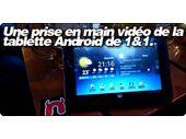 Une prise en main vidéo de la tablette 7