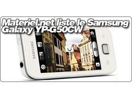 Materiel.net liste le Samsung Galaxy YP-G50CW.