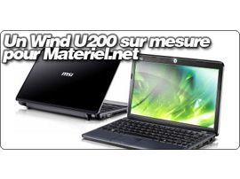 Un MSI Wind U200 sur mesure pour Materiel.net