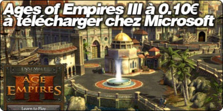 Ages of Empires III à 0.10€ à télécharger chez Microsoft