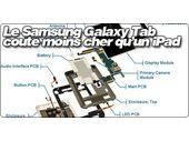 Le Samsung Galaxy Tab coute moins cher à fabriquer qu'un iPad.