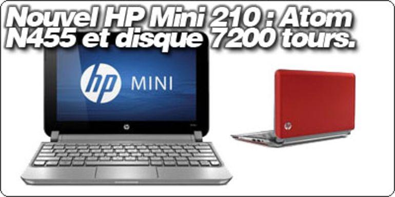 Le nouvel HP Mini 210 est disponible : Atom N455 et disque 7200 tours à partir de 339€