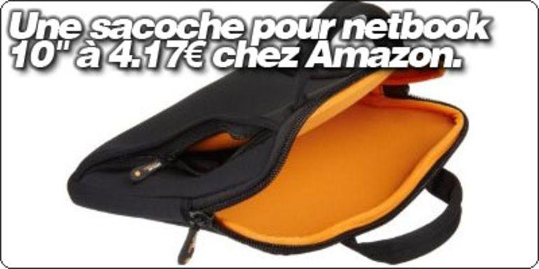 """Une sacoche pour netbook 10"""" à 4.17€ chez Amazon."""