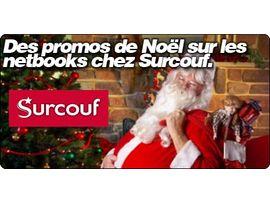 Des promos de Noël sur les netbooks chez Surcouf.