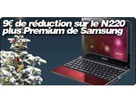 9€ de réduction sur le N220 plus Premium de Samsung avec Pixmania.