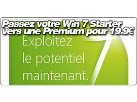 Passez votre Windows 7 Starter vers une version Familiale Premium pour 19.90€