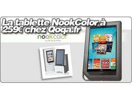 La tablette NookColor à 259€ chez Qoqa.fr