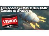 Les scores 3DMark des AMD Zacate et Brazos.