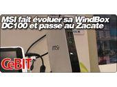 MSI fait évoluer sa WindBox DC100 et passe à l'AMD Zacate E-350