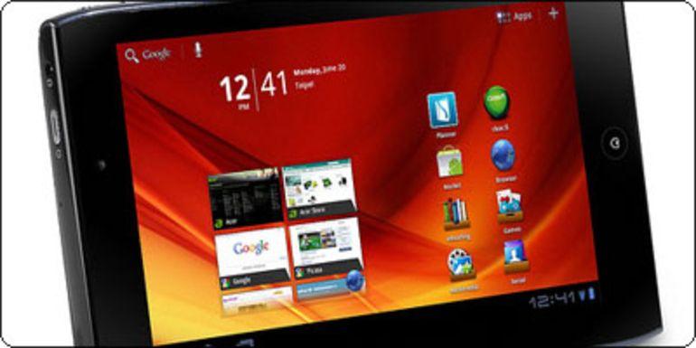 L'Acer Iconia Tab A100 sous Android 3.2 en stock en France à 289.11€