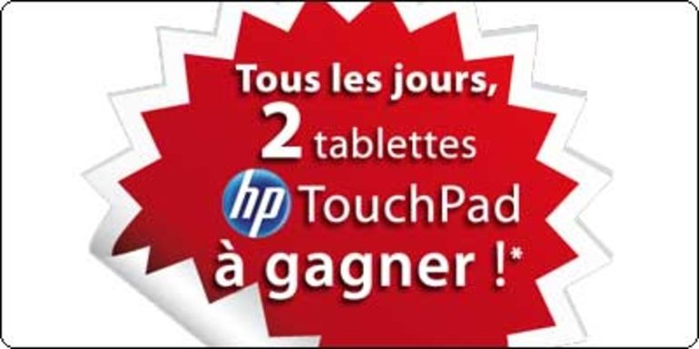 2 tablettes Touchpad 32Go à gagner chaque jour avec RueDuCommerce