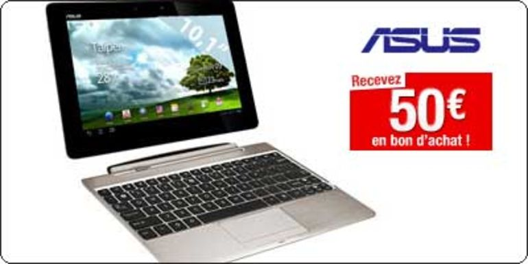 L'Asus EeePAD Transformer Prime 32Go en stock à 599€ avec 50€ de bon d'achat