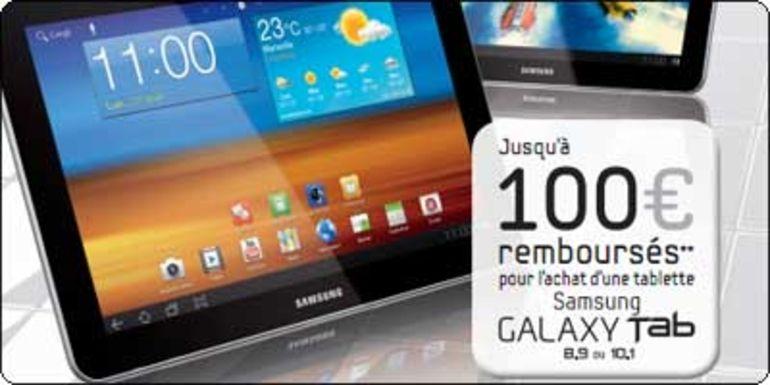 ODR : Samsung vous rembourse 100€ sur votre Galaxy Tab
